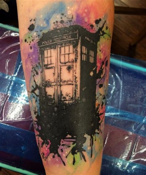 watercolor tattoo austin all saints watercolor tardis doctor who by
