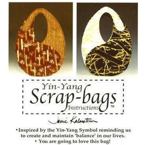 free pattern for yin yang bag yin yang scrap bag pattern 402 yysb 890657001044
