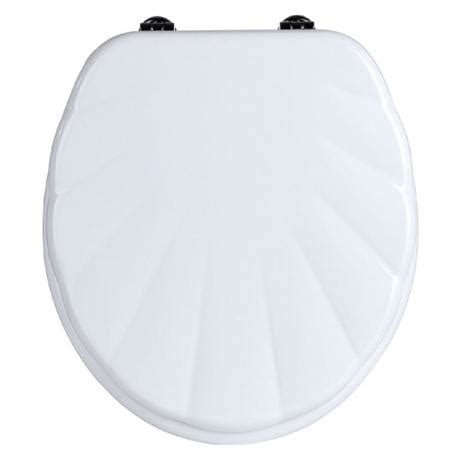 shell toilet seats uk white shell mdf toilet seat with zinc alloy fittings