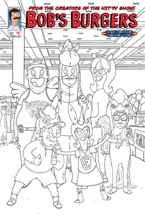 bob s burgers coloring book books dynamic forces 174 bob s burgers 1 baltimore comic con