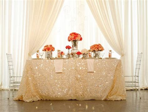 Chevron Table Linens - wedding wednesday a glittering occasion peony events