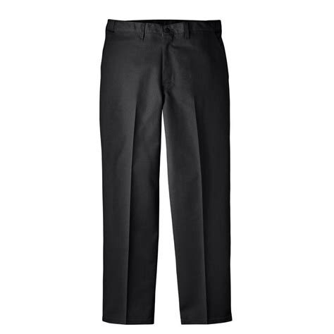 Comfort Waist by Dickies Regular Fit 30 In X 30 In Blended Flat Front