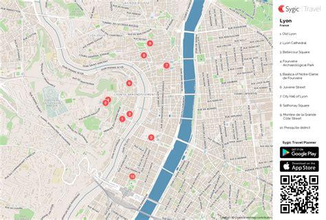 lyon on a map lyon printable tourist map sygic travel