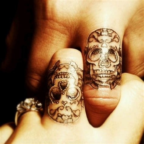 skull couple tattoos sugar skull tattoos tattoos