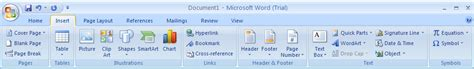 page layout ribbon word 2007 tabs and their functions in word 2007 ribbon