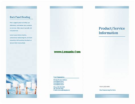 microsoft publisher tri fold brochure templates microsoft publisher templates tri fold brochure for