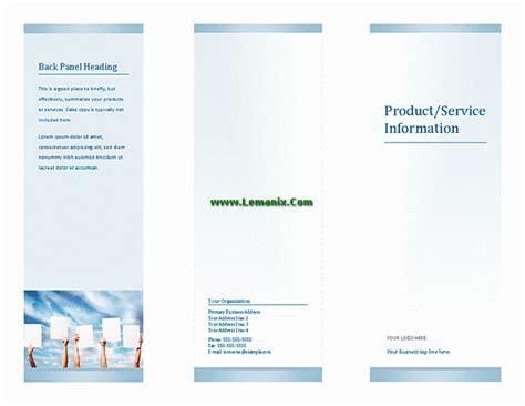 microsoft publisher templates tri fold brochure