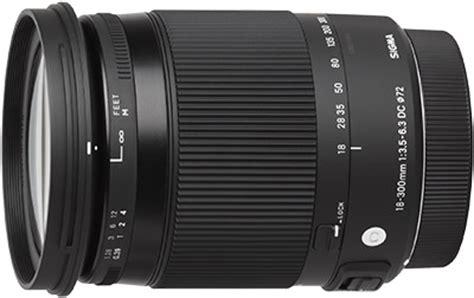 sigma 18 300mm f/3.5 6.3 dc macro os hsm c lens