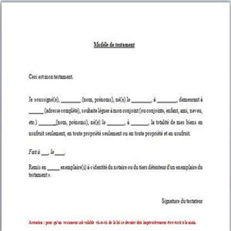 Modeles De Lettre Testament T 233 L 233 Charger Mod 232 Le De Testament Pour Windows Freeware