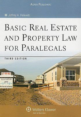 basic real estate and property for paralegals by