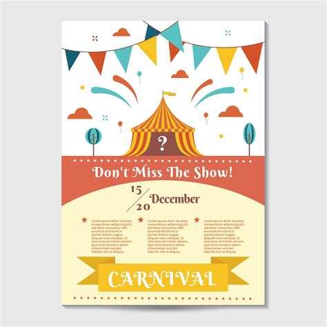 carnival posters template carnival poster template vector free vector