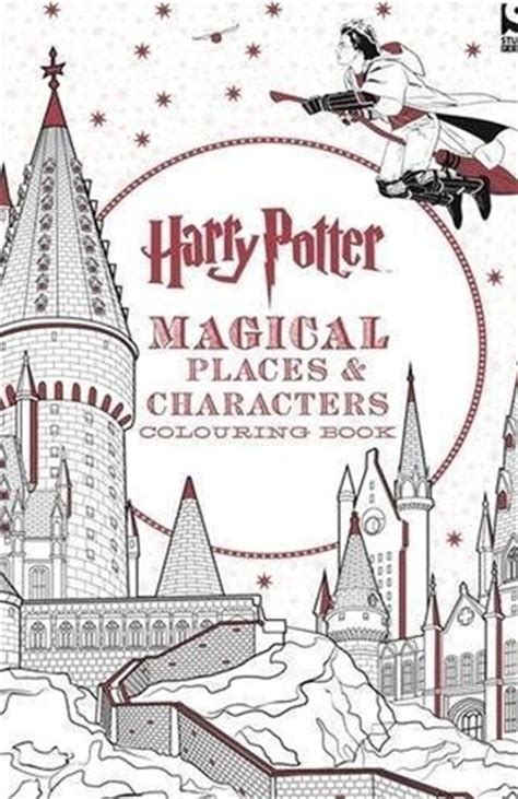 harry potter coloring book whsmith harry potter magical places and characters colouring book