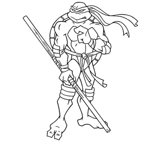 Mutant Turtles Donatello Coloring Pages Teenage Mutant Ninja Turtles Coloring Pages Colouring