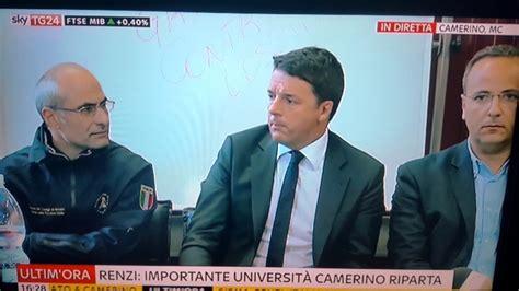 renzi se italia fa l italia non ce renzi a camerino quot l italia non si fa fermare dal terremoto
