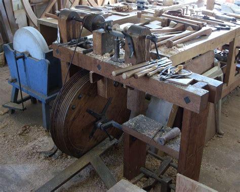 colonial woodworking tools colonial era treadle gunsmith lathe