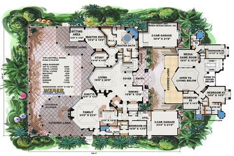Mediterranean Villa House Plans by Spanish House Plans Mediterranean Style Greatroom