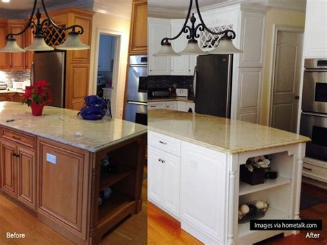 painted kitchen cabinets before after 12 clever ideas for your next kitchen renovation