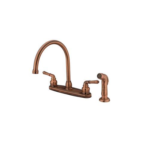 kingston brass kitchen faucets faucet kb796sp in antique copper by kingston brass