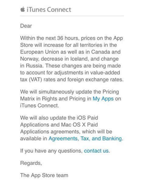 Anschreiben Preiserhohung Apps Werden Teurer Apple K 252 Ndigt Preiserh 246 Hung F 252 R Europ 228 Ische App Stores An Iphone Ticker De