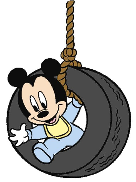 mickey mouse swing baby mickey clipart