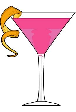 Martini Glass Sparkly Pink Background Clipart Image 26295
