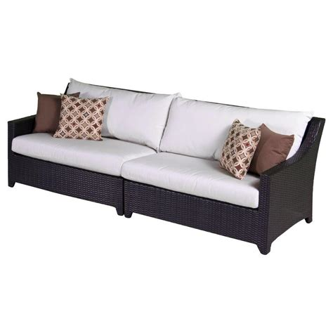 Moroccan Sofa by Rst Brands Deco Patio Sofa With Moroccan Cushions Op Pesof Mor K The Home Depot
