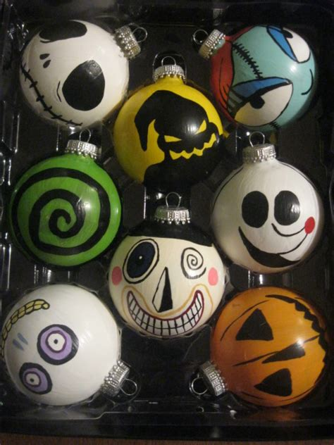 the nightmare before christmas ornaments by