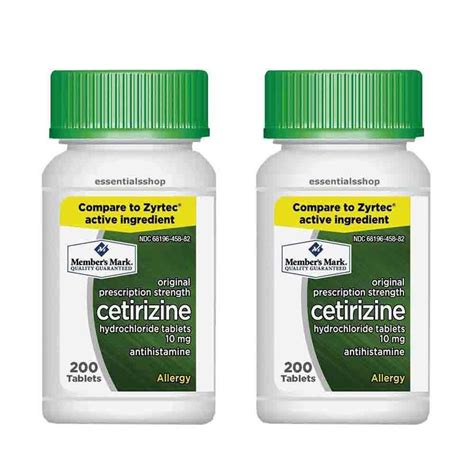 Obat Cetirizine Hcl 10 Mg member s 10 mg cetirizine hydrochloride antihistamine