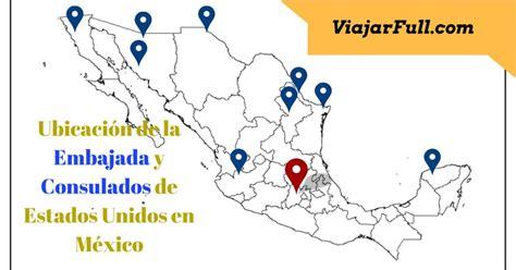 telefono del consulado mexicano de houston para hacer consulados de estados unidos en m 233 xico tel 233 fonos y ubicaci 243 n