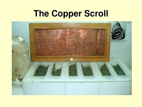 The Copper Scroll ppt the dead sea scrolls powerpoint presentation id