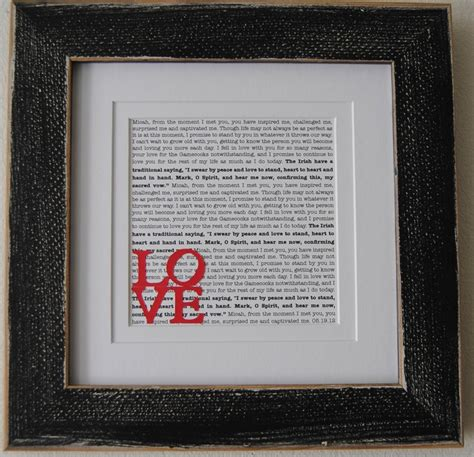 Wedding Vows Gift by Wedding Vow Printed Wedding Vows Framed Wedding Vows