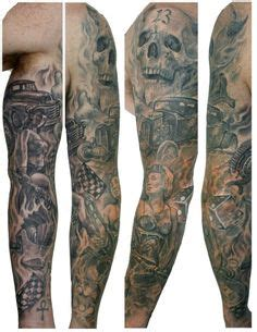 bad ass arm tattoos black and grey underwater sleeve by graham fisher of