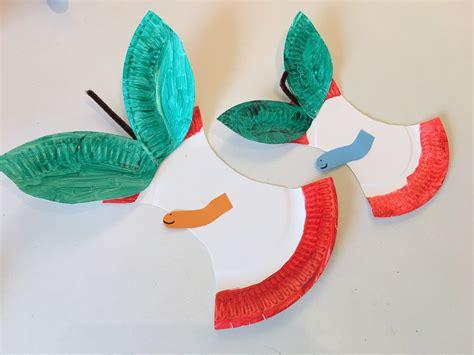 Basteln Mit Obst by Apfel Aus Pappteller Basteln Mit Kindern Der