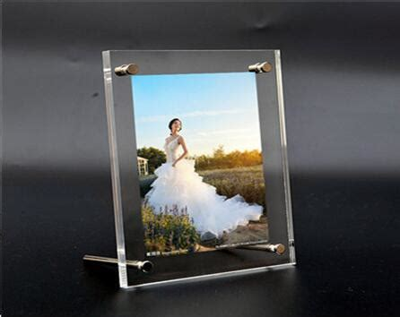 shipping acrylic photo frame display table