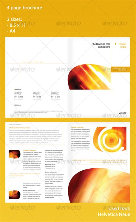 4 page brochure template 4 page brochure in 2 sizes graphicriver