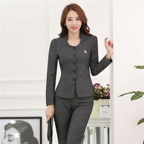 women working suits designs aliexpress com buy novelty gray formal uniform design