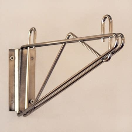 wall mounted wire shelving wall bracket with plate