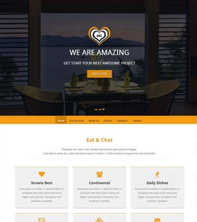 restaurant bootstrap template bootstrap admin template free