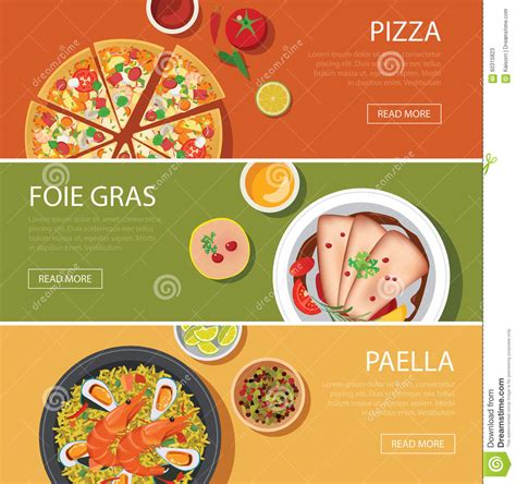 Nature Stek Malang popular food web banner flat design pizza foie gras