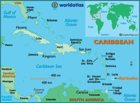 where is barbados on world map barbados lower right on the world map caribbean 7