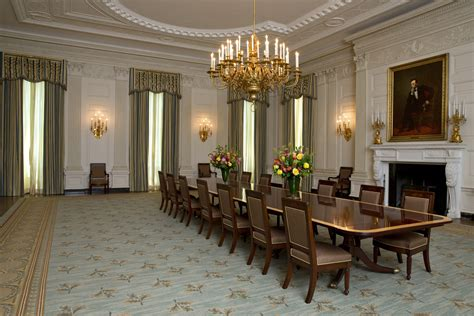white house east room curtains white house dining room gets a slight makeover cbs news