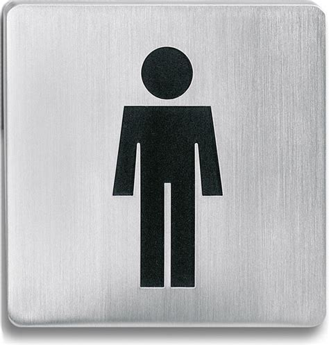 stainless steel bathroom signs square stainless steel restroom sign men contemporary