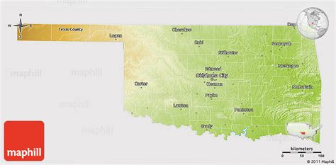 united states map of oklahoma physical 3d map of oklahoma cropped outside