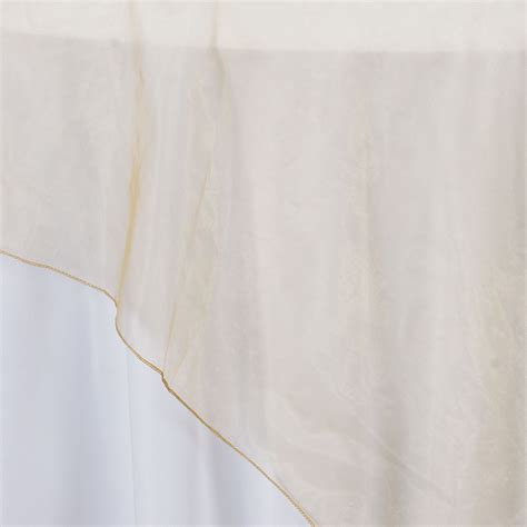Square Organza Gold 5 sheer organza 72x72 quot square table overlays toppers wedding linens sale ebay