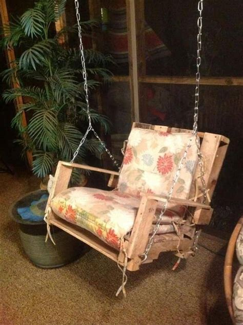diy chair swing diy frugal pallet swings pallet furniture diy
