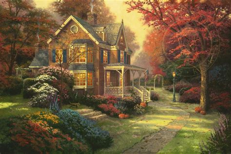 home interiors kinkade prints autumn limited edition the