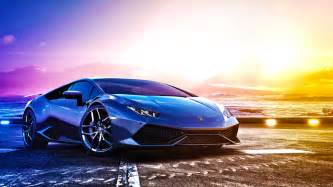 Sports Car Lamborghini Lamborghini Blue Sports Car Wallpaper Hd Image Picture