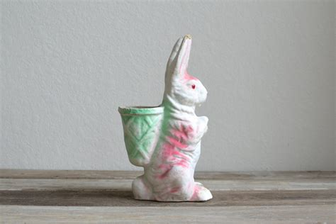 Vintage Paper Mache Rabbit Bunny - vintage paper mache easter bunny by aneedleinthehay on etsy