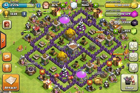 clash of clans strategy level 7 farming base design town hall clash of clans town hall level 7 farming www pixshark