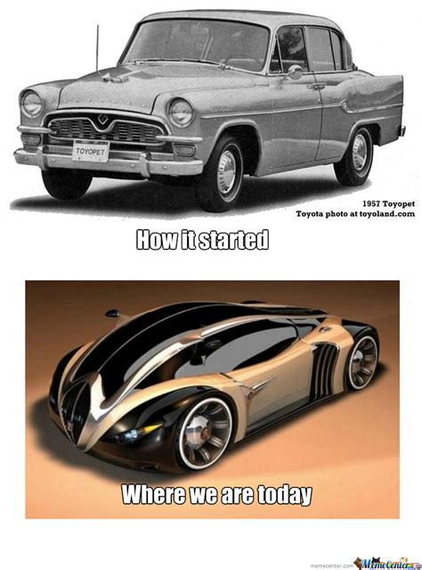 toyota now then and now toyota lexus by goodolddays meme center
